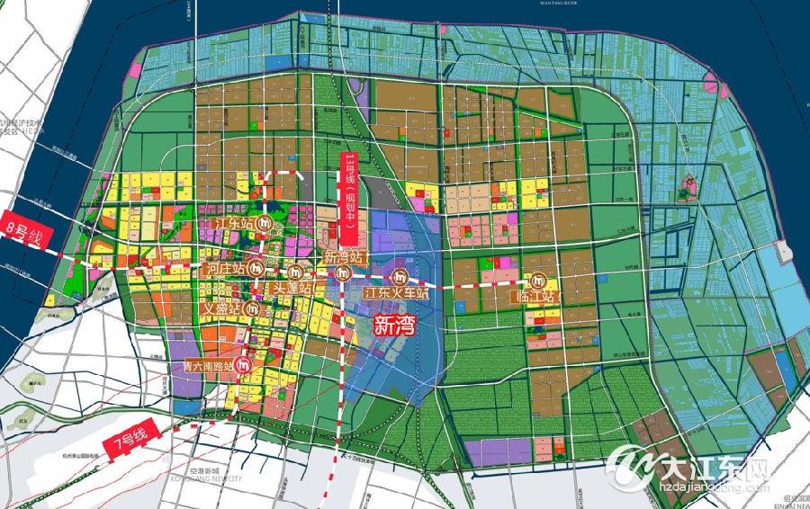 新湾境内的地铁线位图-新湾54亩宅地挂牌出让 靠近规划8号线江东站